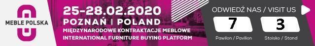 Międzynarodowe kontraktacje meblowe 25-28.02.2020 Poznań
